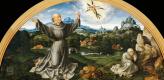 Йос ван Клеве. Алтарь оплакивания Христа. 1520-1525  Стигматизация святого Франциска