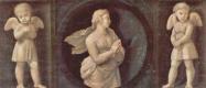 Рафаэль Санти. Алтарь Бальони, центральная часть, пределла с изображениями кардинальных добродетелей. Вера и два ангела