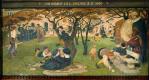 Форд Мэдокс Браун. Мечты Хамфри Четама (Четамская благотворительная школа для детей бедняков), 1640 год. Фреска мурала здания Манчестерской ратуши