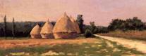 Гюстав Кайботт. Пейзаж со стогами сена