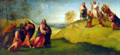 Лоренцо Лотто. Христос, ведущий апостолов на гору Фавор