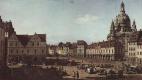 Giovanni Antonio Canal (Canaletto). View of Dresden, the new market from Moritzstrasse