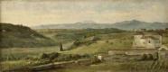 Джордж Фредерик Уоттс. Панорамный пейзаж с домом на ферме