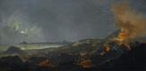 Пьер-Жак Волер Франция. Ночной пейзаж с извержением вулкана.