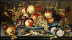 Балтазар ван дер Аст. Натюрморт с блюдом, фруктами, цветами и ракушками