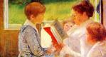 Mary Cassatte. Mrs. Casset reading grandchildren
