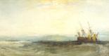 Joseph Mallord William Turner. A ship aground, Yarmouth