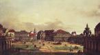 Джованни Антонио Каналь (Каналетто). Внутренний двор Цвингера в Дрездене. Вид со стороны крепостных укреплений