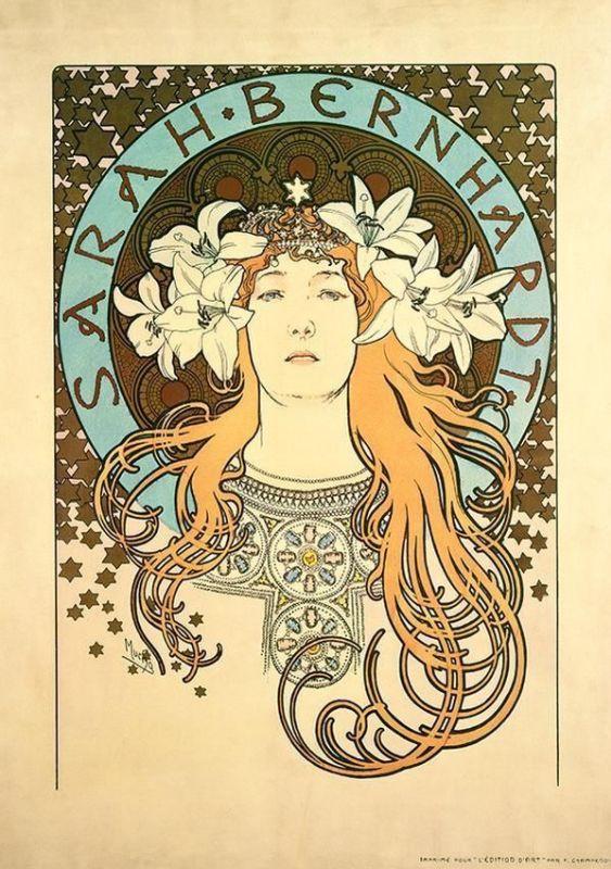 "Альфонс Муха. ""Сара Бернар"", 1896."