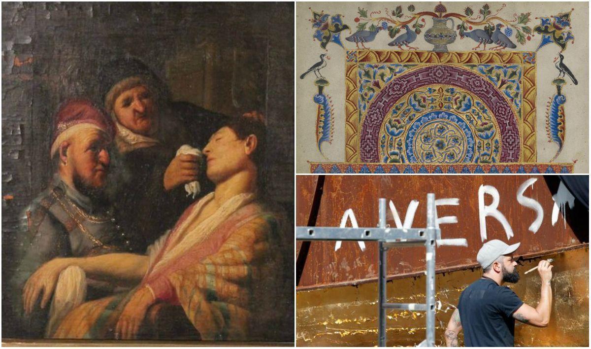 Арт-дайджест: Рембрандт - сенсация на аукционе, реституция древней рукописи и золото «вагины»
