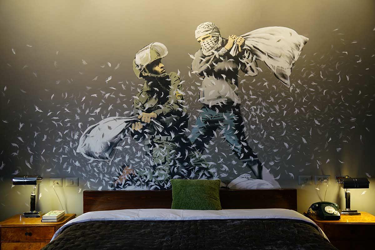 Banksy launched a dystopian art hotel in Bethlehem