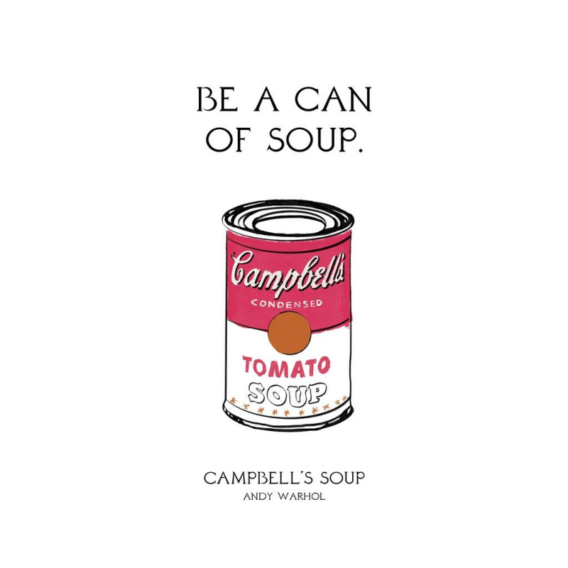 Быть банкой супа. «Банка с супом «Кэмпбелл»», Энди Уорхол