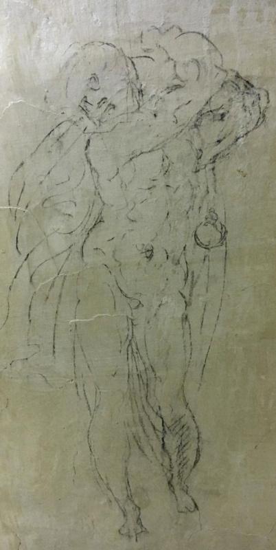Рисунок на стенах в зале