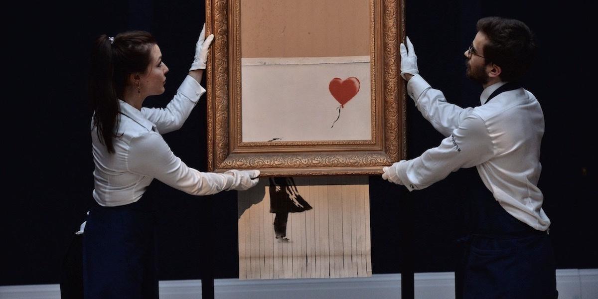 Самоуничтожившаяся картина Бэнкси снова в продаже и стоит в разы дороже