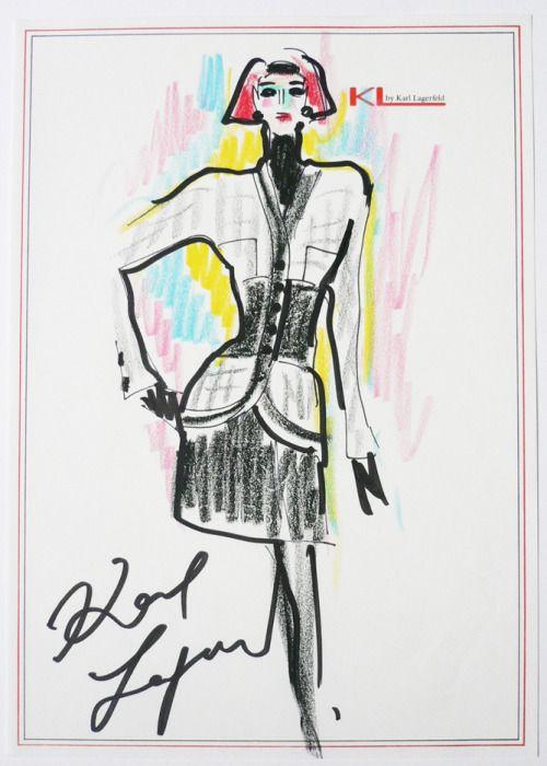 «Я – модный нимфоман…». Рисунки и цитаты Карла Лагерфельда о моде, себе и других