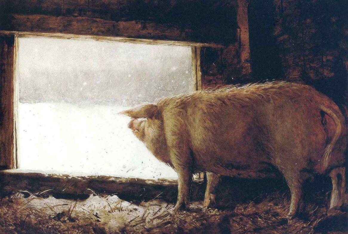 Свиньи и высокое искусство: 8 картин, доказывающих, что это идеальная пара