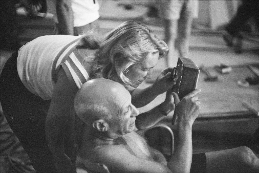 Пикассо и Майя в Ницце, 1955. Фото:Edward Quinn / Администрация Пикассо