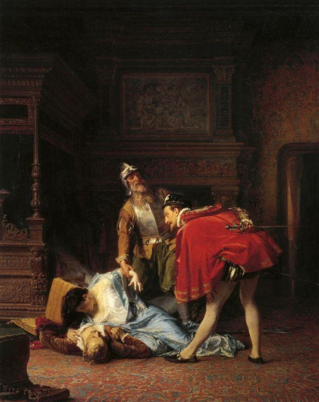 Kārlis Hūns, A Scene From the Massacre of St. Bartholomew, 1870