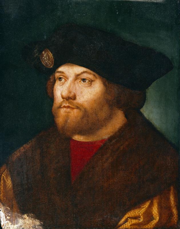 Ещё одна версия портрета того же человека, выполненнаяв 1526-27 годах