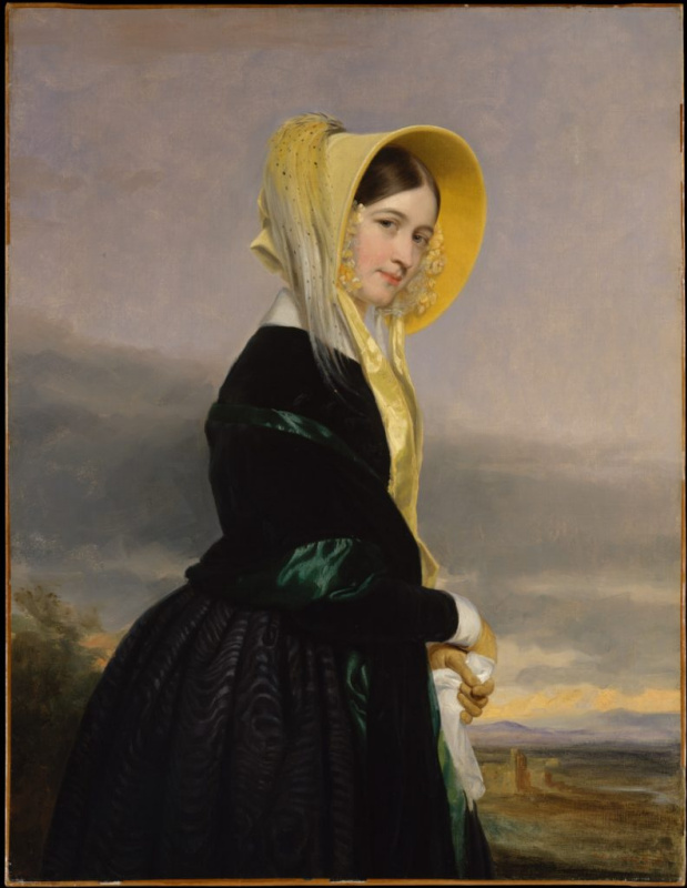 "Джордж Хили, ""Юфимия Уайт ван Ренсселар"" (1842). Метрополитен-музей, Нью-Йорк"