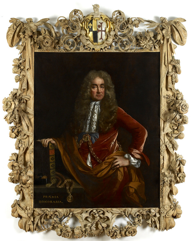 This is how the frame by Greenling Gibbons looks after restoration works, in its original form, with
