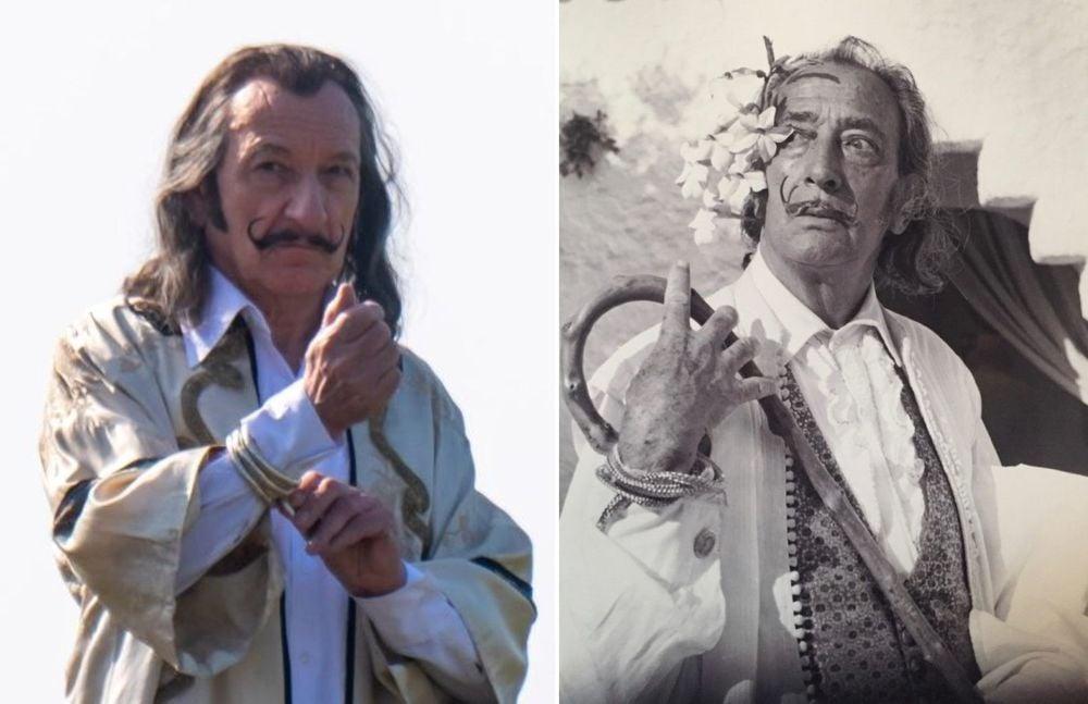 Как Бен Кингсли воплощает Сальвадора Дали в кино. Первые кадры