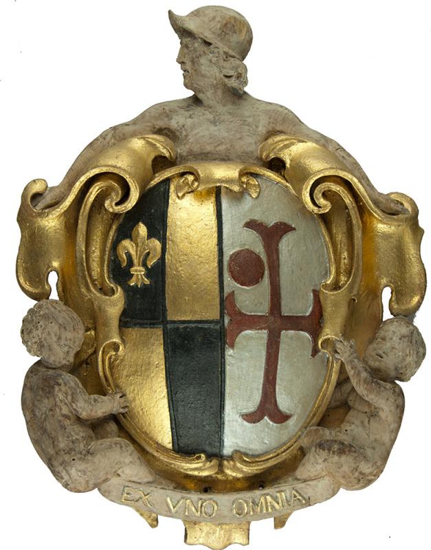 The heraldic shield after restoration. Photo: © Ashmolean Museum, Oxford University