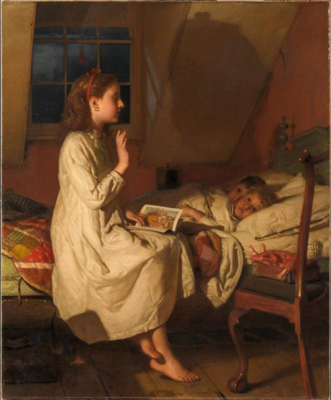 """Сеймор Джозеф Гай, """"Сказка о Золотом ключике"""" (ок. 1870).Метрополитен-музей, Нью-Йорк"""