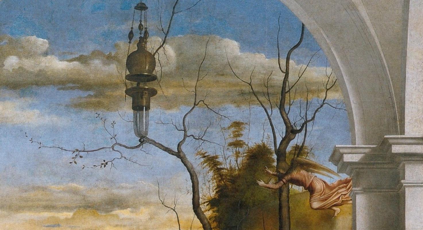Marco Besaiti, Agony in Gethsemane (detail), 1510-1515, Academy Gallery, Venice