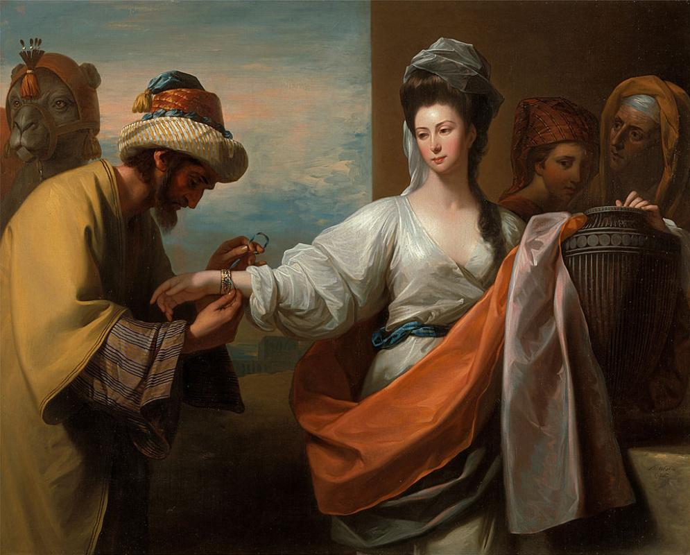 Benjamin West, Isaac's Servant Tying the Bracelet on Rebecca's Arm, 1775