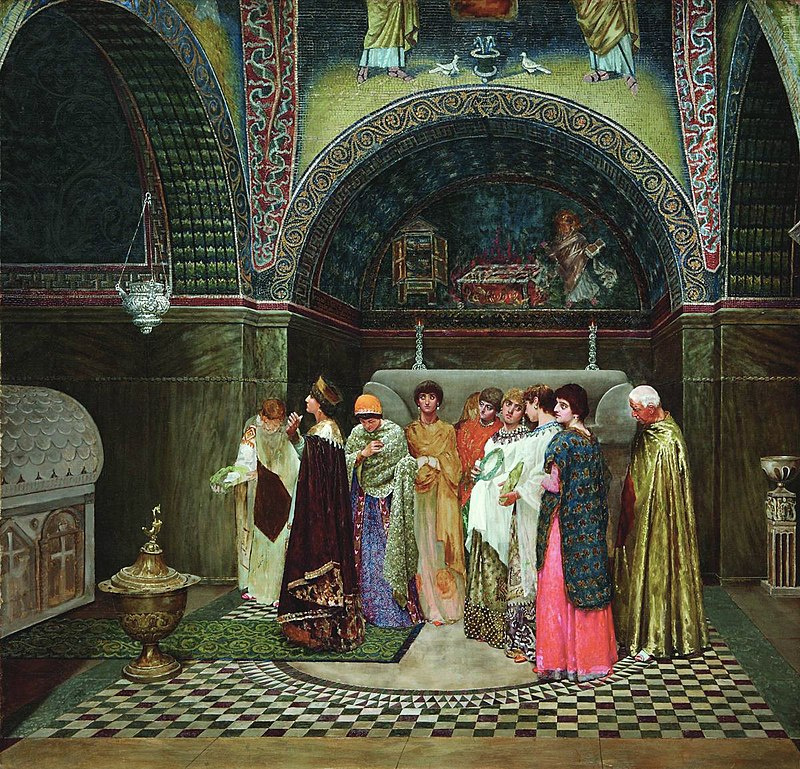 Vasily Smirnov, Morning Outing of the Byzantine Empress to the Tombs of Her Ancestors, 1889—1890
