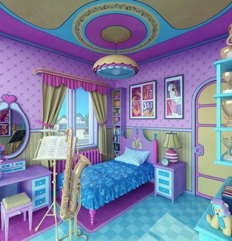 Спальня Лизы Симпсон из сериала «Симпсоны»