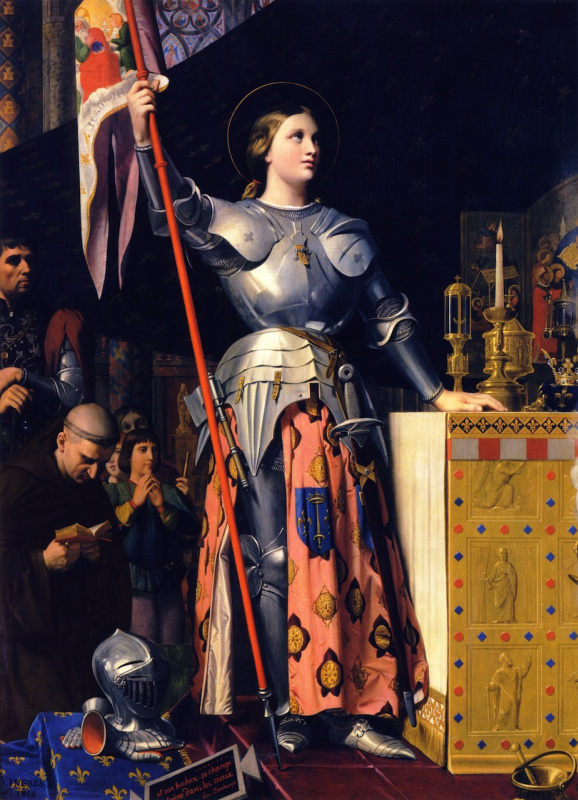 Jean-Auguste Dominique Ingres. Jeanne d'Arc at the Coronation of Charles VII at the Reims