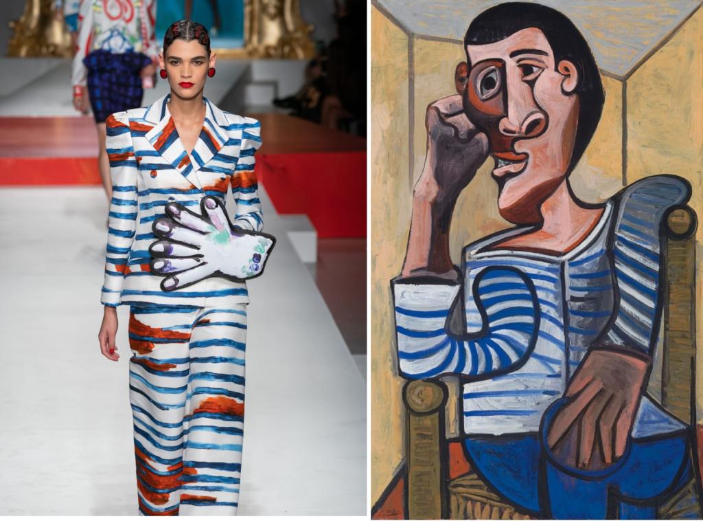 Тельняшка с картины Пикассо «Моряк» (1943) © 2018 Estate of Pablo Picasso / Общество прав художников