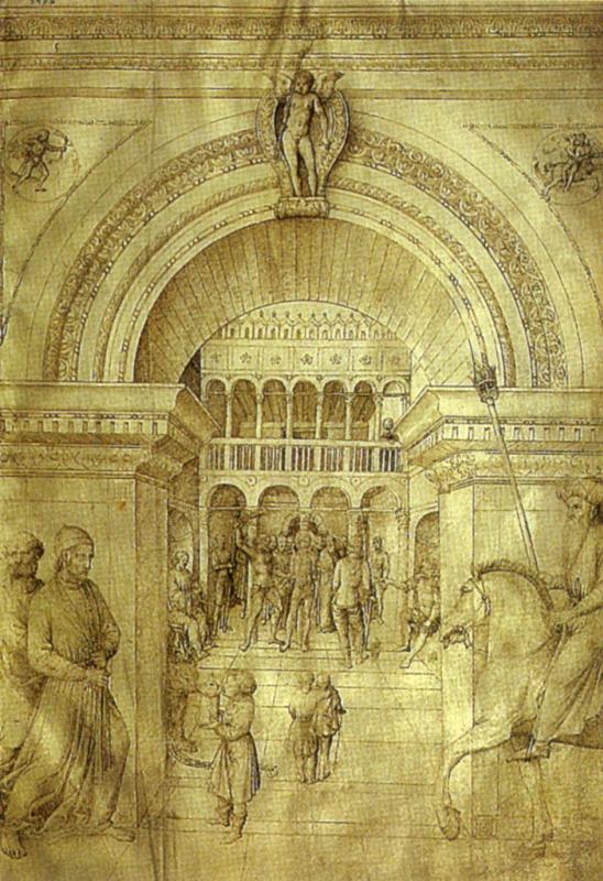 Jacopo Bellini, Flagellation of Christ, 1450s, Louvre