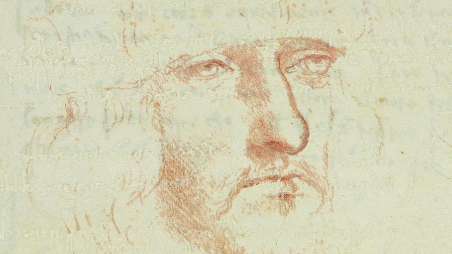 """Леонардо да Винчи и немного магии: обнаруженный автопортрет гения  и """"волшебный"""" рисунок - на выставке в США"""