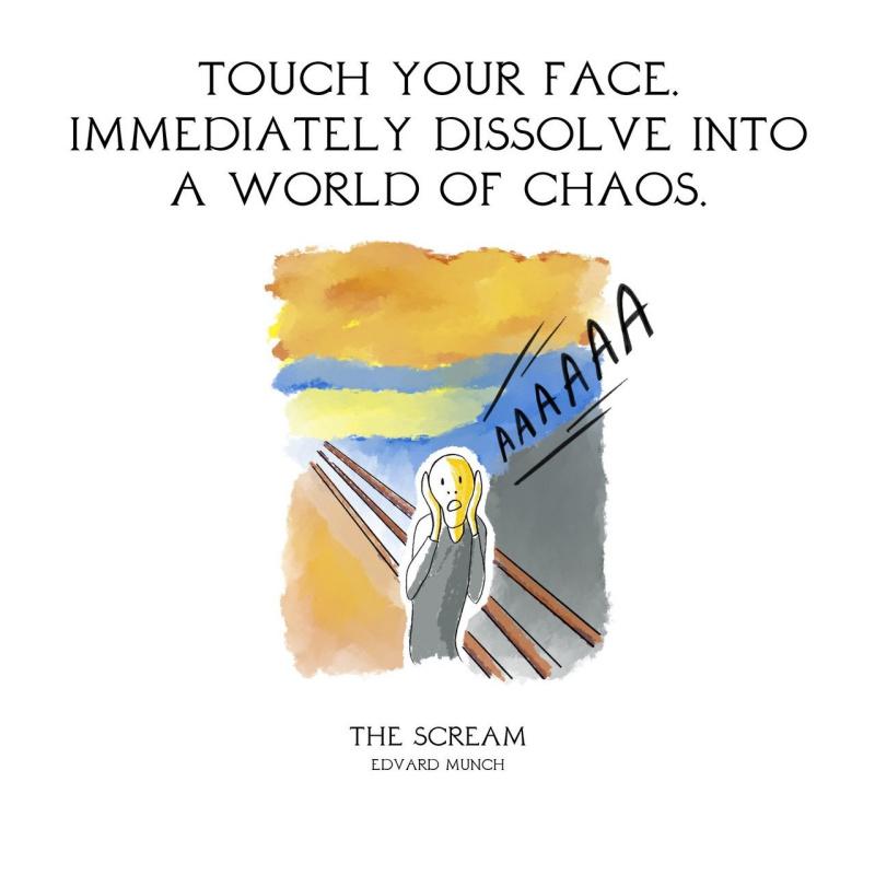 Прикоснуться к лицу. И сразу погрузиться в мир хаоса.  «Крик», Эдвард Мунк