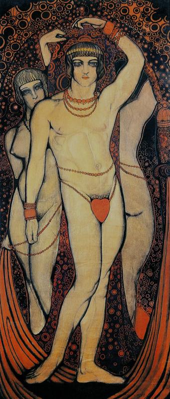 «Нудизм», 1914 Декоративная панель, 243 х 101 см. Национальный художественный музей Украины, Киев
