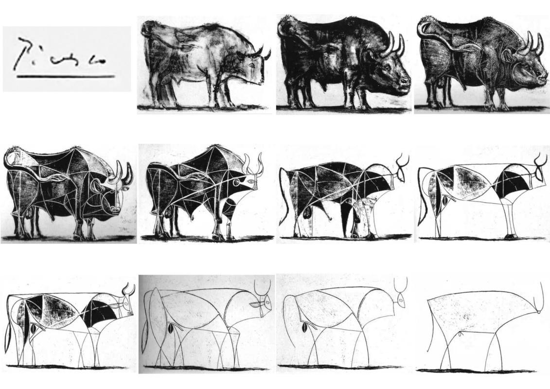 Пабло Пикассо, 11 литографий из серии«Бык» (1945)