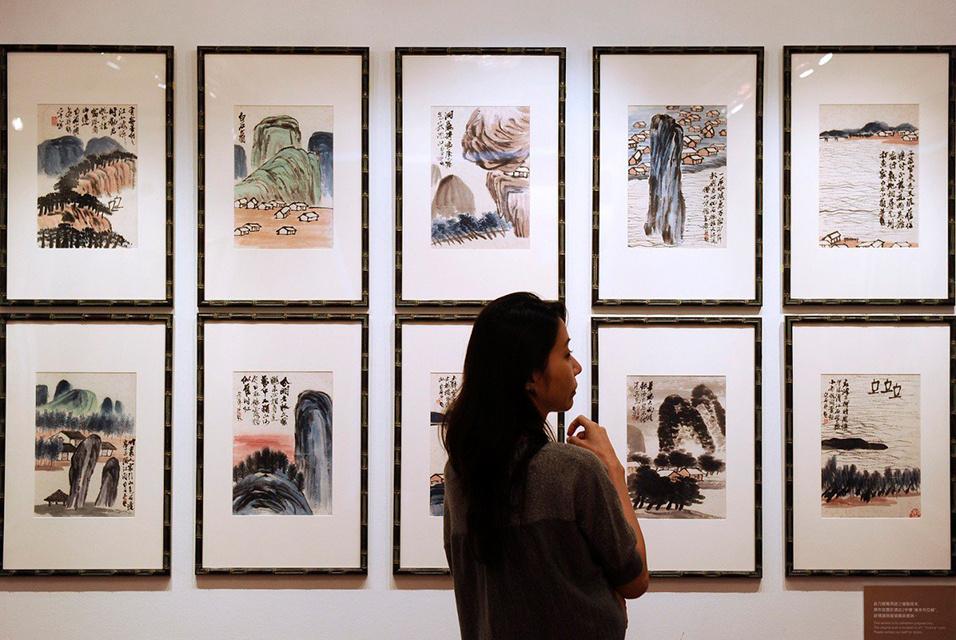 Серия пейзажей тушью побила все рекорды для работ китайских художников