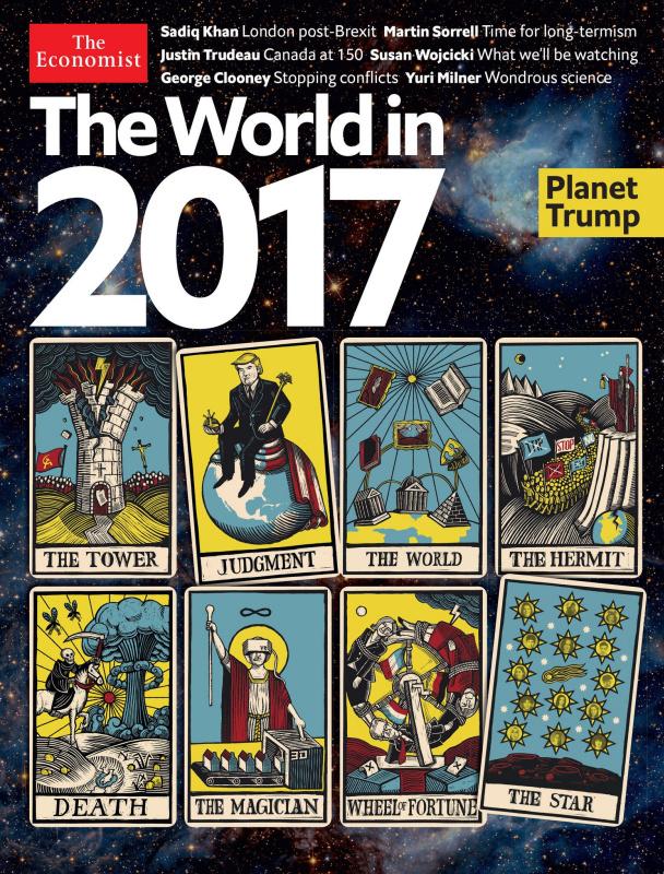 Ребус в стиле Леонардо да Винчи поместили на обложку The Economist