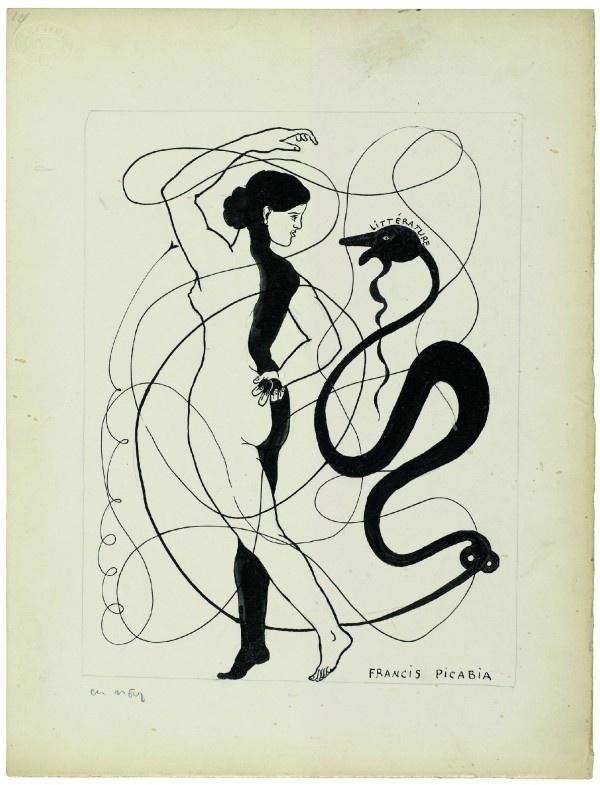 Ненормативный Пикабиа в «Литературе» - в Париже впервые  показывают оригиналы рисунков французского авангардиста