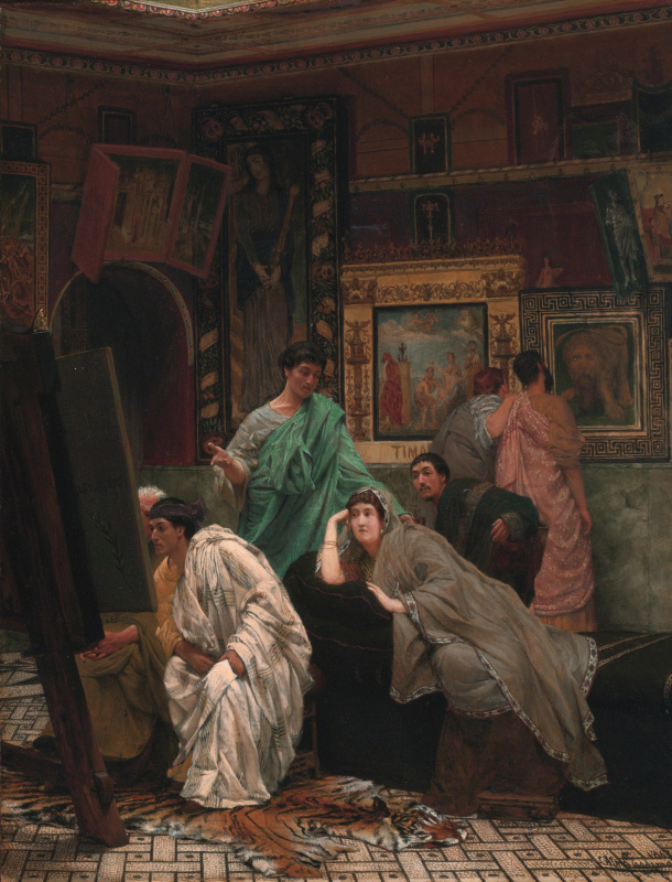 Lawrence Alma-Tadema, A Collection of Pictures at the Time of Augustus, 1867