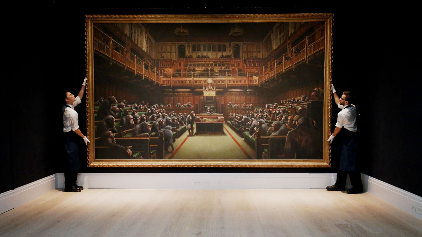 Record price for a Banksy painting set at Sotheby's London
