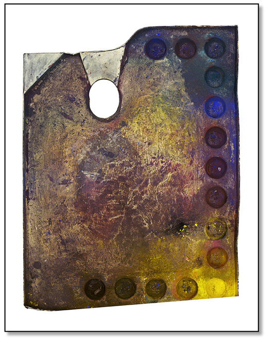 Palette as a painter's portrait: German artist collected photography series of painters' tools