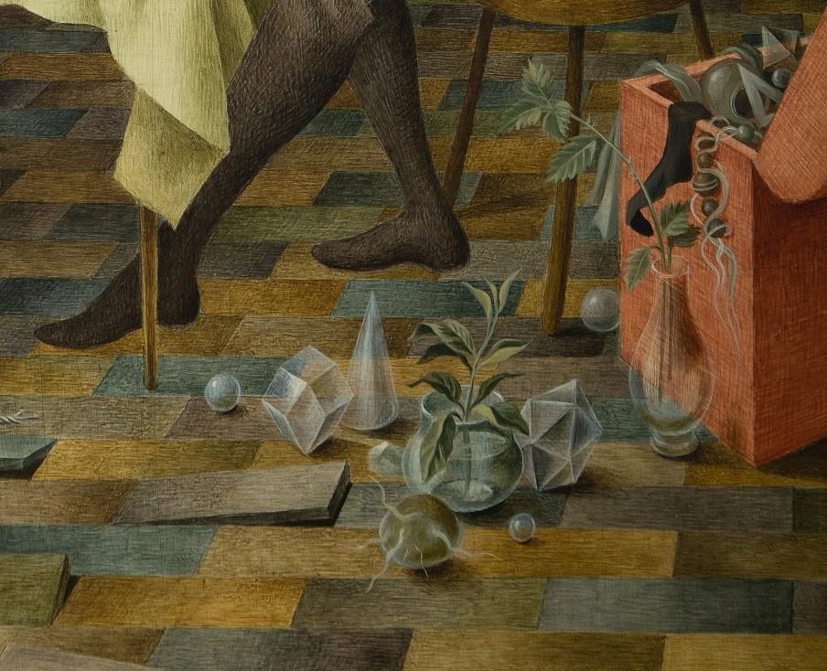 Фрагменты картины «Гармония (Предполагаемый автопортрет)» Ремедиос Варо