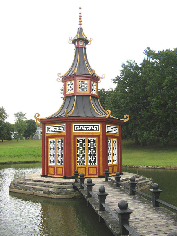 Château de Groussay, France. Chinese pagoda. The estate was built for the Duchesse of Charost in 182