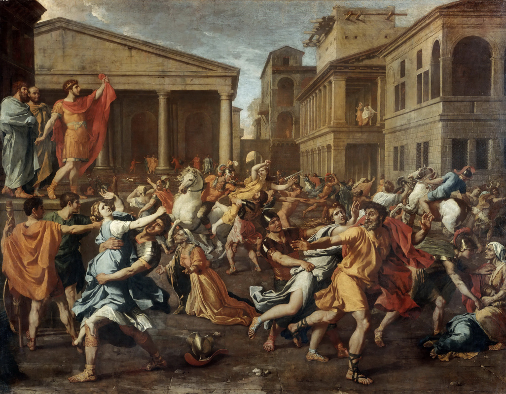 Nicolas Poussin. The Abduction of the Sabine Women, 1634