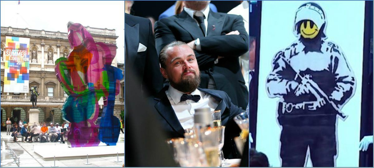 Более 33 млн долларов - выручка аукциона в Каннах для программ анти-СПИД: Пикассо, Бэнкси, Кунс, Лео и все звезды