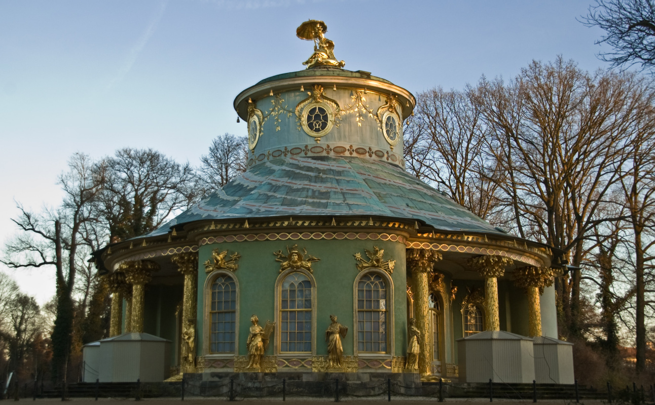 Chinese Tea House in Sanssouci Palace Park, Potsdam. Built by order of the Prussian King Frederick t